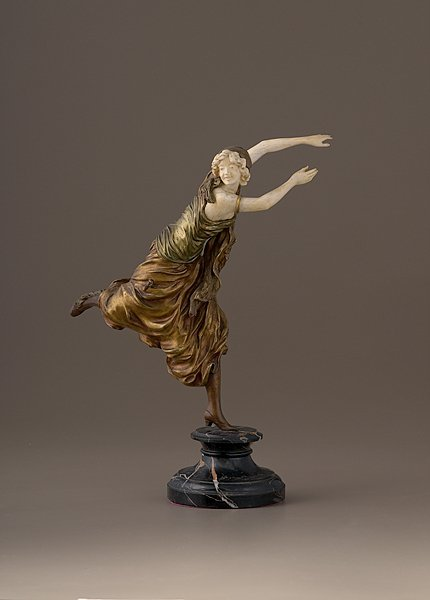 230: Sculpture by C.J.R. Colinet, Bronze and Ivory