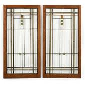 Attributed to Frank Lloyd Wright, Pair of Arts and