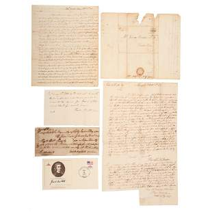 [FOUNDING FATHERS]. Collection of 14 autographs of
