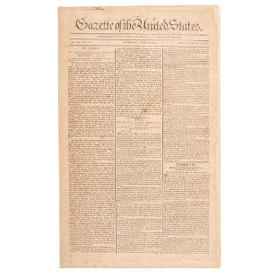 [FRANKLIN, Benjamin (1706-1790)]. Gazette of the United