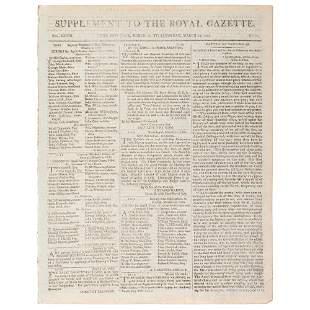 [BATTLE OF TRAFALGAR]. Supplement to the Royal Gazette