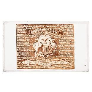 [CIVIL WAR]. CDV of the battle flag of the 6th New York