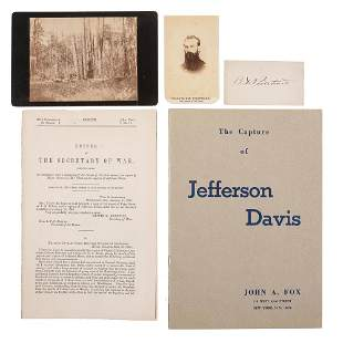 [DAVIS, Jefferson (1808-1889)]. A group of 5 items