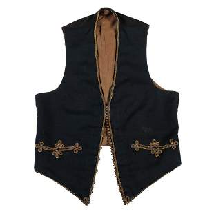 [HAWKINS' ZOUAVES]. Smoking cap and vest attributed to