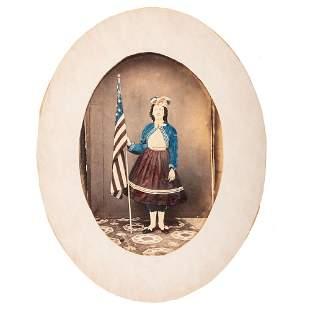 [CIVIL WAR]. Hand-colored albumen photograph of a