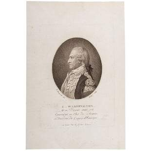 [WASHINGTON, George (1732-1799)]. RUOTTE, Louis Charles