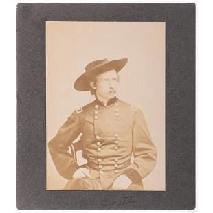 [CUSTER, George A. (1839-1876)]. BRADY, Mathew,