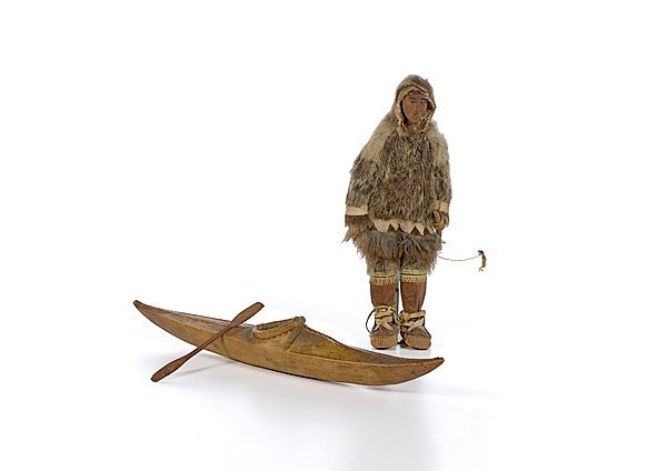 3: Eskimo Doll and Sealskin Kayak
