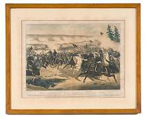 287 Currier  Ives Print Colored Lithograph