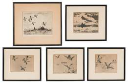 Bird Scenes by Frank Weston Benson, Drypoint