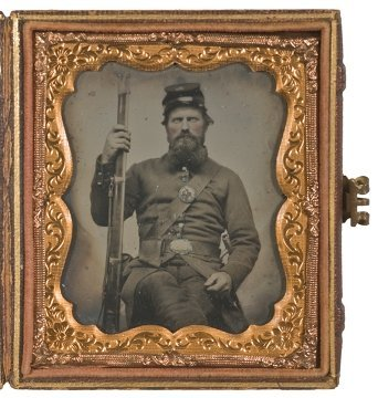 4: Sixth Plate Ambrotype of Armed 2nd Corps Soldier