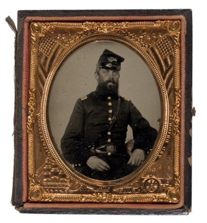 5: Sixth Plate Tintype of Capt. Zeba F. Bliss, 7th Mass