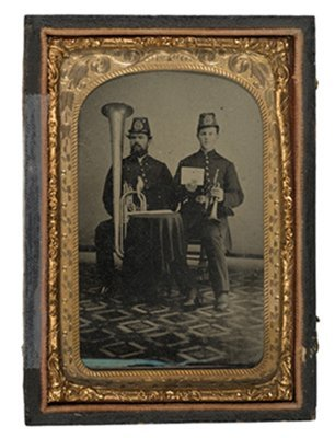 7: Eight Plate Tintype of NYSNG Bandsmen