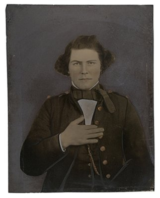 9: Full Plate Tintype of Pvt. Martin W. Compton, 22nd V
