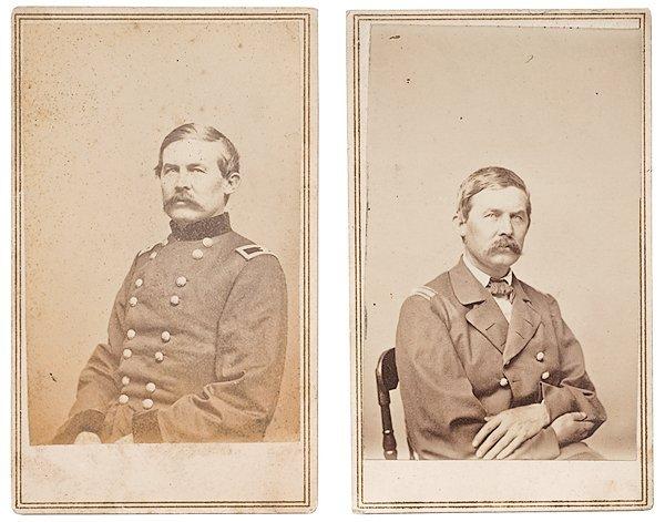 12: Two CDVs of General John Buford by Brady