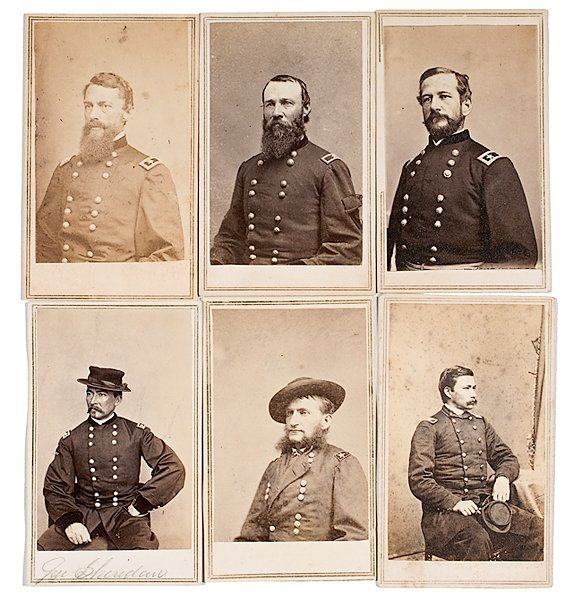 13: Lot of Sixteen CDV's of Union Generals