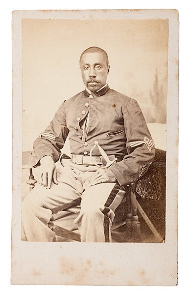 16: Civil War CDV of Sgt. Taylor B. Aldrich, 19th USCT
