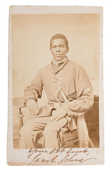 18: CDV of Sgt. Jacob Johns, 19th USCT