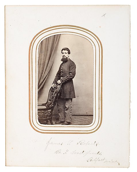 22: CDV of Musician James T. Roberts, Maine Coast Guard