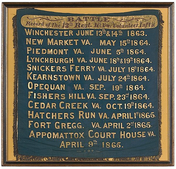 199: Appomattox Court House 12th Regiment Battle Record