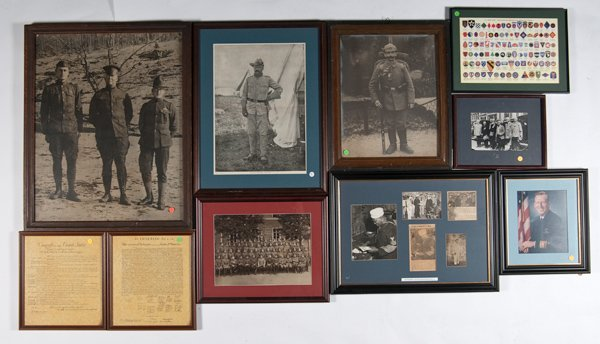5: Lot of 9 Framed Military Pictures, Including MOH