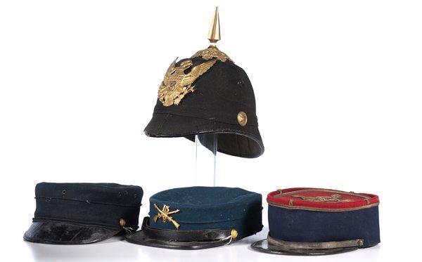 8: Lot of 4 Military Headgear