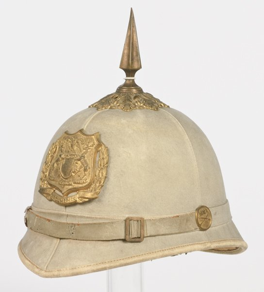 10: Spanish American War Military School Pith Helmet