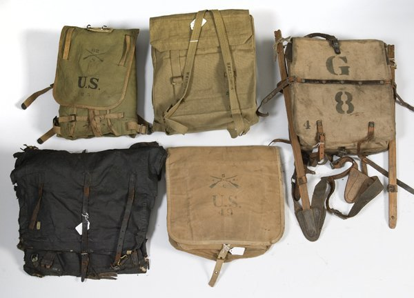 12: Lot of Military Backpacks
