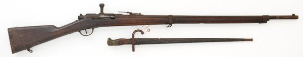 21: French Ste. Etienne Model 1874 Gras Rifle & Bayonet