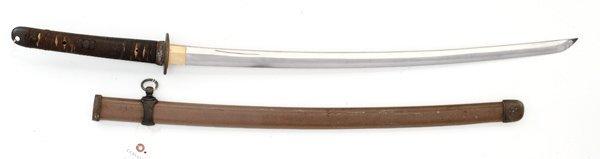 180: WWII Japanese Officer's Samurai Sword Signed Blade