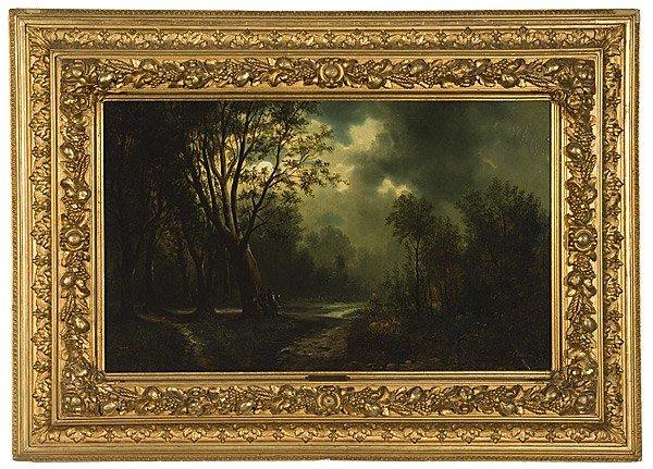 2: Landscape by P. Cassani, Oil on Canvas