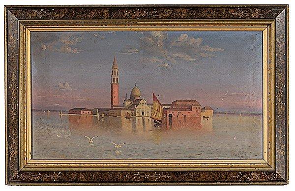 3: Venetian Scene by H. Fieldseth, Oil on Canvas