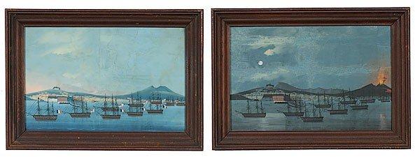 6: Naples Nautical Paintings, Gouache on Paper