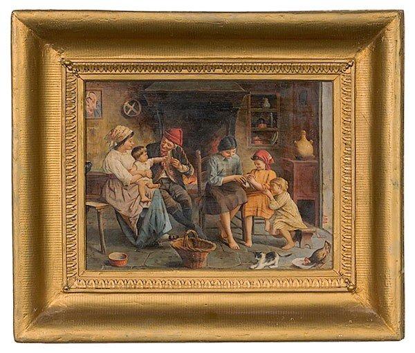 8: Genre Scene by Alessandro Sani, Oil on Board