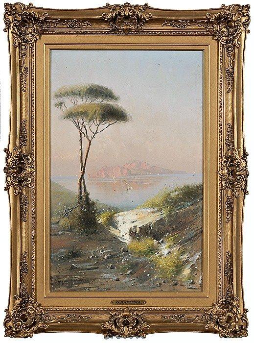 11: Landscape by Giovanni Battista, Watercolor and Goua