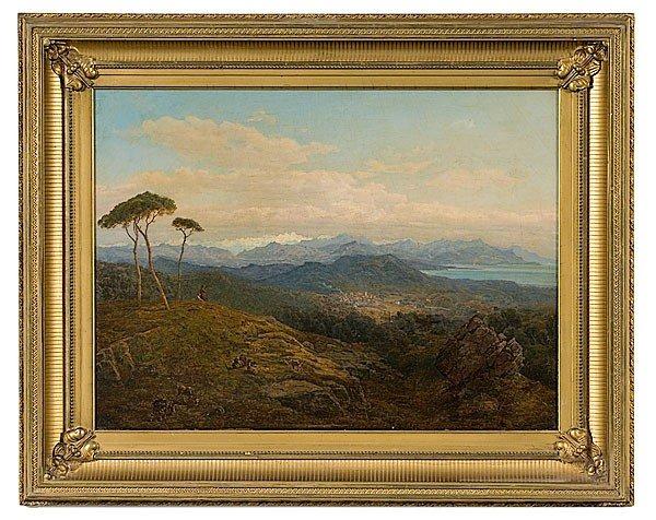13: Italian School Landscape, Oil on Canvas