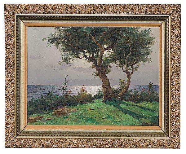 15: Marine Landscape by Rinaldi, Oil on Canvas