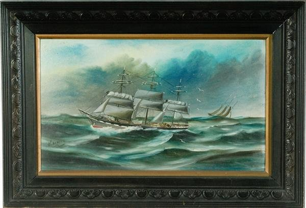 2: Nautical Scene by W. Dowden, Oil on Board