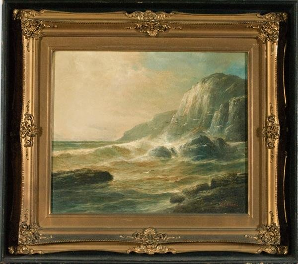 3: Marine Landscape by S. E. Evans, Oil on Canvas