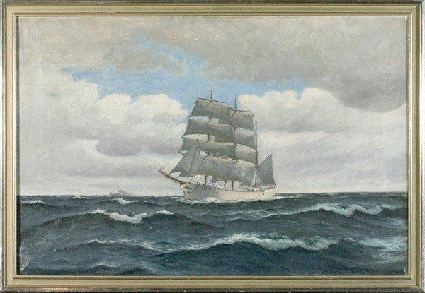 9: Nautical Scene, Oil on Canvas
