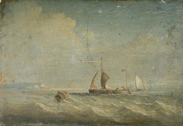 10: Seascape, Oil on Board