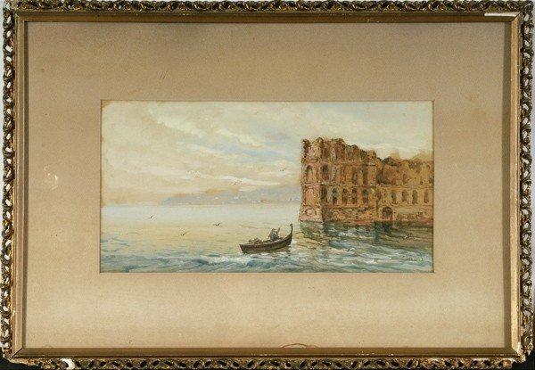 11: Nautical Landscape, Watercolor
