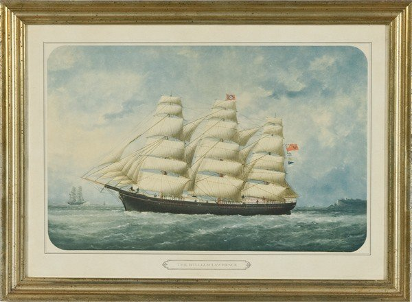 13: Portrait of a Ship by E. Adams, Chromolithograph