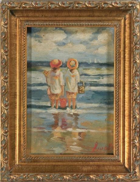 16: Seascape, Oil on Board