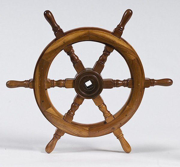 21: Walnut Ship's Wheel