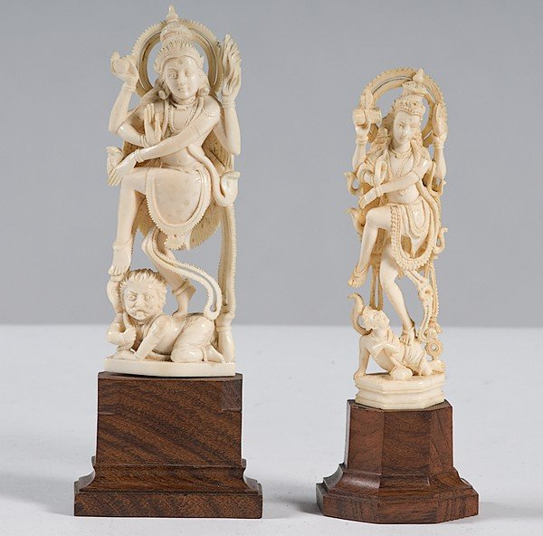 225: Ivory Carvings of Hindu Goddess
