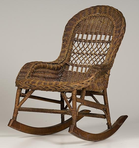 459: Childs Wicker Rocker