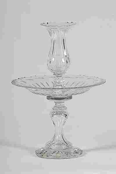 716: Victorian Cut Glass Epergne