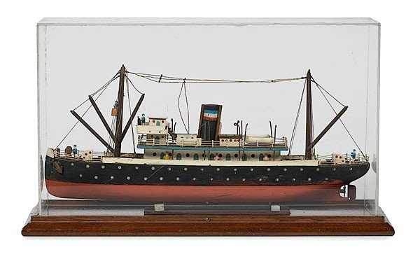 25: Folk Art Model Steamship
