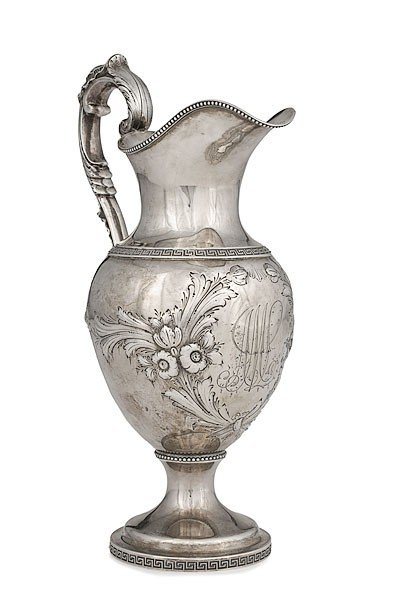 343: Coin Silver Pitcher
